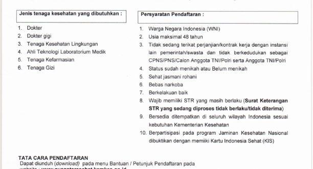 REKRUTMEN TENAGA KESEHATAN NUSANTARA SEHAT INDIVIDUAL PERIODE II TAHUN 2019